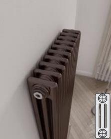 Instamat Leden PR horizontale designradiator 3 kolommer - klassiek - vintage - retro