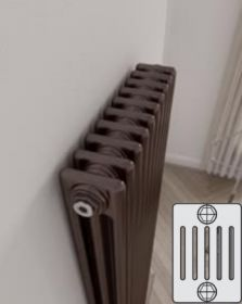Instamat Leden PR horizontale designradiator 6 kolommer - klassiek - vintage - retro