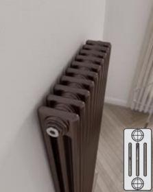 Instamat Leden PR horizontale designradiator 4 kolommer - klassiek - vintage - retro