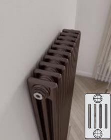Instamat Leden PR horizontale designradiator 5 kolommer - klassiek - vintage - retro